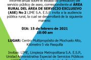 Invitación a Audiencia Pública Rural LIME S.A. E.S.P.